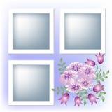 Het frame en de bloemen van de foto vector illustratie