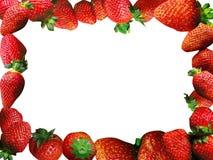 Het frame van aardbeien Stock Fotografie