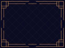 Het Frame van het art deco Uitstekende lineaire grens Ontwerp een malplaatje voor uitnodigingen, pamfletten en groetkaart stock illustratie