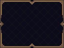 Het Frame van het art deco Uitstekende lineaire grens Ontwerp een malplaatje voor uitnodigingen, pamfletten en groetkaarten royalty-vrije illustratie