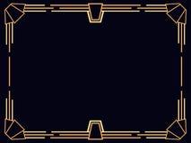 Het Frame van het art deco Uitstekende lineaire grens Ontwerp een malplaatje voor uitnodigingen, pamfletten en groetkaarten De st stock illustratie