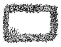 Het frame van bladeren en van bloemen stock afbeeldingen