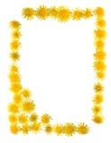 Het frame van bloemen stock foto