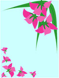 Het frame van bloemen. Stock Afbeeldingen