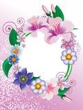 Het frame van bloemen Stock Foto's