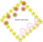 Het frame van bloemen met ruimte voor tekst Royalty-vrije Stock Foto's