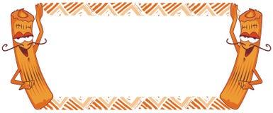 Het frame van Churro, Spaanse doughnut Royalty-vrije Stock Foto