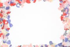Het frame van confettien Stock Afbeelding
