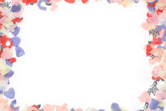 Het frame van confettien Stock Foto's