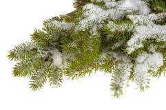 Het frame van Cristmas met sneeuw Stock Foto's