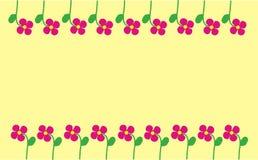 Het frame van de bloem Stock Fotografie
