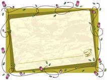 Het frame van de bloem stock illustratie