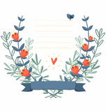Het frame van de bloem achtergrond Royalty-vrije Stock Fotografie