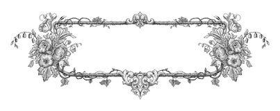 Het frame van de bloem vector royalty-vrije illustratie