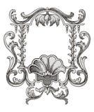 Het frame van de bloem vector Stock Foto's
