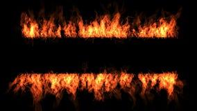 Het frame van de brand stock video