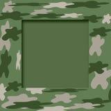 Het frame van de camouflage Stock Foto