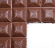 Het frame van de chocolade Stock Foto's