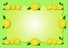 Het frame van de citroen royalty-vrije illustratie