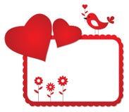 Het frame van de Dag van de valentijnskaart Stock Foto