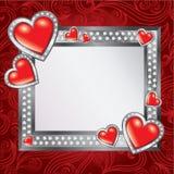 Het frame van de Dag van de Valentijnskaart van heilige Stock Foto