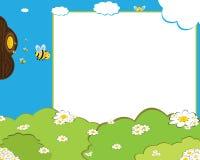 Het frame van de de bijenfoto van het beeldverhaal Royalty-vrije Stock Fotografie