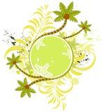 Het frame van de de bloemzomer van Grunge royalty-vrije illustratie