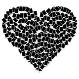Het frame van de de vormfoto van het hart dat op wit wordt geïsoleerdn Royalty-vrije Stock Fotografie