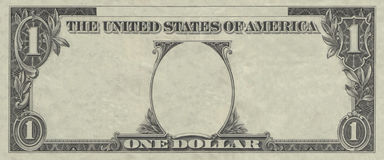 Het frame van de dollar stock foto's
