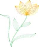 Het frame van de draad bloem Royalty-vrije Stock Foto's