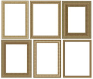 Het frame van de foto dat op witte achtergrond wordt geïsoleerda Stock Foto's