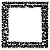 Het frame van de foto grens die op wit wordt geïsoleerdn Stock Foto's