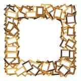 Het frame van de foto grens op wit Royalty-vrije Stock Afbeeldingen