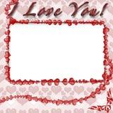 Het frame van de foto met harten Royalty-vrije Stock Fotografie