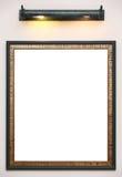 Het frame van de foto op muur stock fotografie
