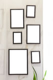 Het frame van de foto op muur Royalty-vrije Stock Afbeeldingen