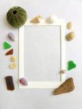 Het frame van de foto, overzees kustthema Royalty-vrije Stock Foto