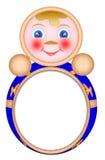 Het frame van de foto's in de vorm van poppen met Royalty-vrije Stock Afbeeldingen