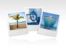 Het frame van de foto strand Stock Foto's