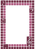 Het frame van de g-sleutel vector illustratie