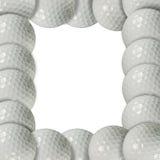 Het frame van de golfbal Stock Afbeeldingen
