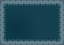 Het Frame van de Horizontale Lijnen van het certificaat Royalty-vrije Stock Afbeelding