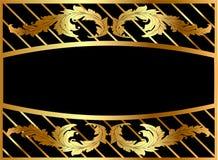 Het frame van de illustratie van gilde met patroon Royalty-vrije Stock Afbeelding