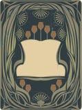 Het frame van de Jugendstil Royalty-vrije Stock Fotografie