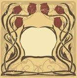 Het frame van de Jugendstil Stock Afbeeldingen
