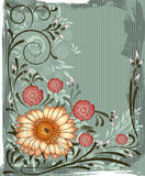 Het frame van de Jugendstil Stock Fotografie