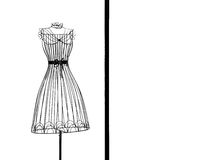 Het frame van de kleding Stock Foto