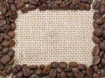Het frame van de koffie stock afbeeldingen