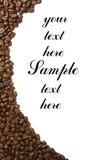 Het frame van de koffie dat met copyspase wordt geïsoleerdi stock foto's