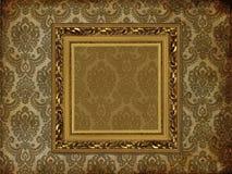 Het frame van de kunst op behang Royalty-vrije Stock Fotografie